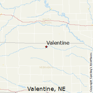 Valentine,Nebraska Map
