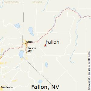 Fallon,Nevada Map