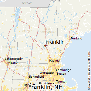 Franklin,New Hampshire Map