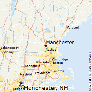 Manchester,New Hampshire Map