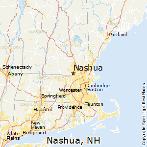 Nashua New Hampshire Map