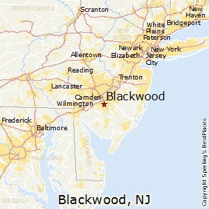 Best Places To Live In Blackwood New Jersey - Nj map