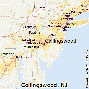 Collingswood,New Jersey Map
