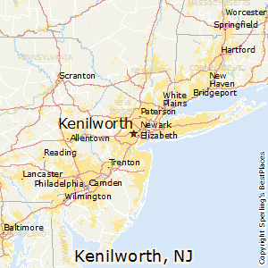 Kenilworth,New Jersey Map