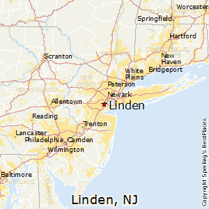 Linden,New Jersey Map