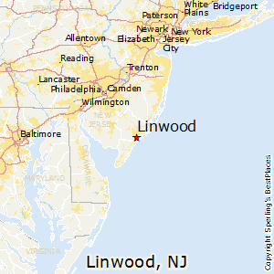 Linwood,New Jersey Map