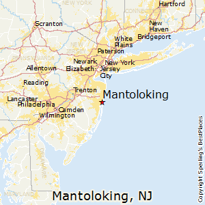 Mantoloking,New Jersey Map