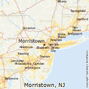 Morristown,New Jersey Map