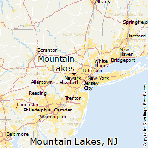 Mountain_Lakes,New Jersey Map