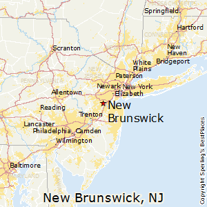 New_Brunswick,New Jersey Map