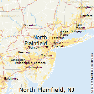 North_Plainfield,New Jersey Map