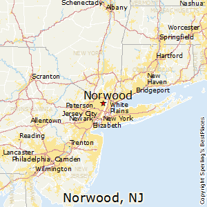 Norwood,New Jersey Map