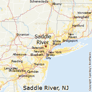 Saddle_River,New Jersey Map