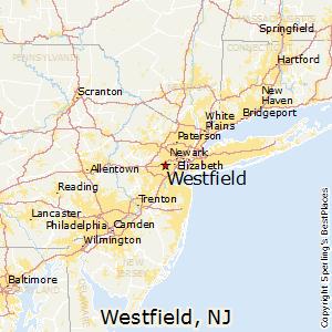Westfield,New Jersey Map