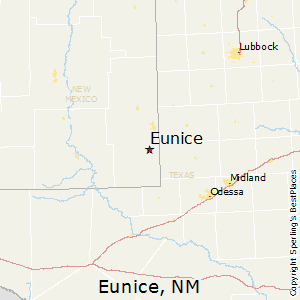 Eunice,New Mexico Map