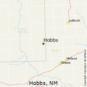 Hobbs,New Mexico Map