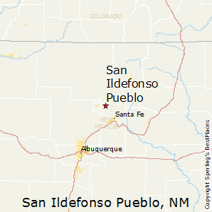 San_Ildefonso_Pueblo,New Mexico Map
