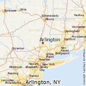 Arlington,New York Map