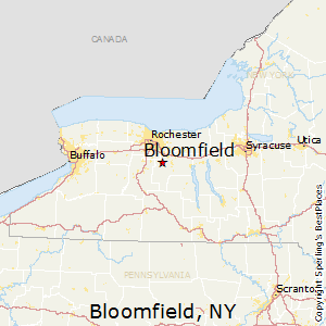 Bloomfield,New York Map