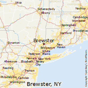 Brewster,New York Map