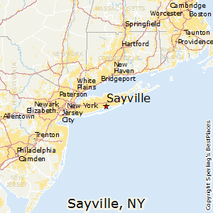 Sayville,New York Map