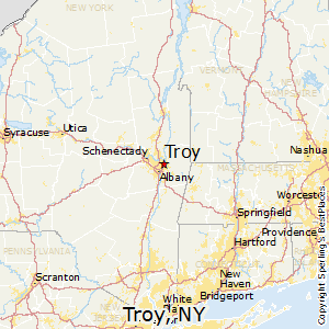 Troy,New York Map