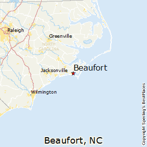 Beaufort,North Carolina Map