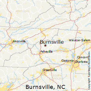Burnsville,North Carolina Map