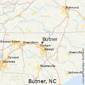 Butner,North Carolina Map