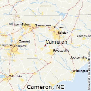 Cameron,North Carolina Map