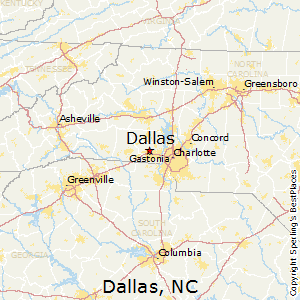 Dallas,North Carolina Map