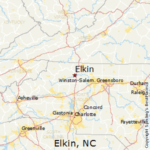 Elkin,North Carolina Map