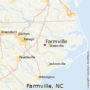 Farmville,North Carolina Map