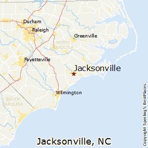 Jacksonville,North Carolina Map