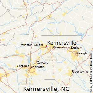 Kernersville,North Carolina Map