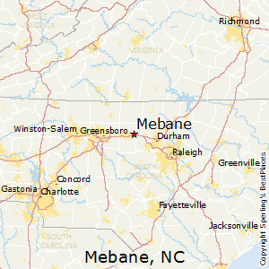 Mebane,North Carolina Map