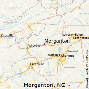 Morganton,North Carolina Map