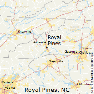 Royal_Pines,North Carolina Map