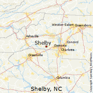 Shelby,North Carolina Map