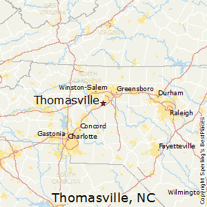 Thomasville,North Carolina Map