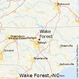 Wake_Forest,North Carolina Map