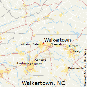 Walkertown,North Carolina Map