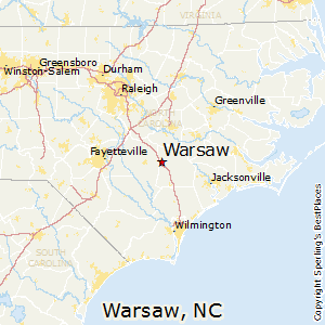 Warsaw,North Carolina Map