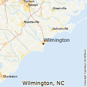Wilmington,North Carolina Map