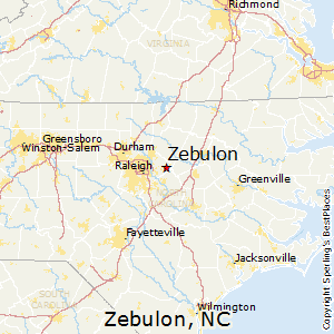 Zebulon,North Carolina Map