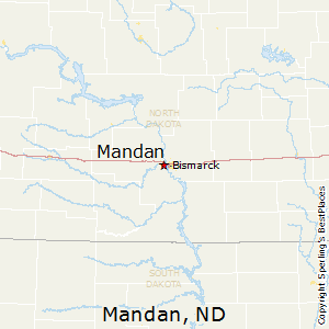 Mandan,North Dakota Map