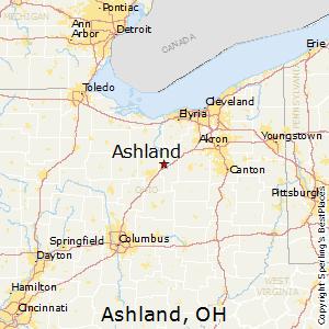 Ashland,Ohio Map
