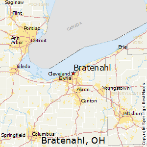 Bratenahl,Ohio Map