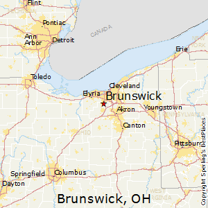 Brunswick,Ohio Map