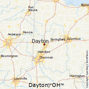 Dayton,Ohio Map